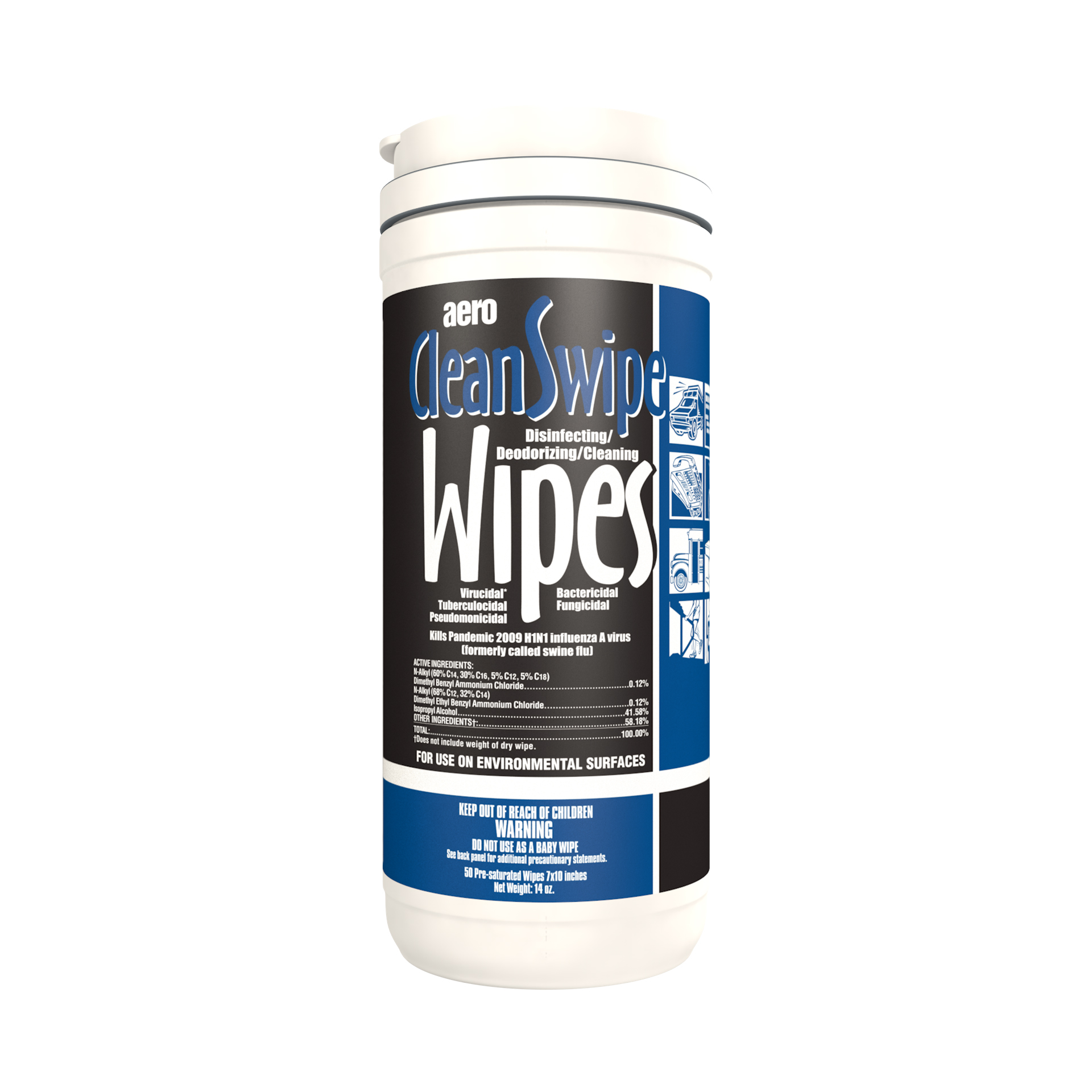 CLEAN SWIPE WIPES 6/50